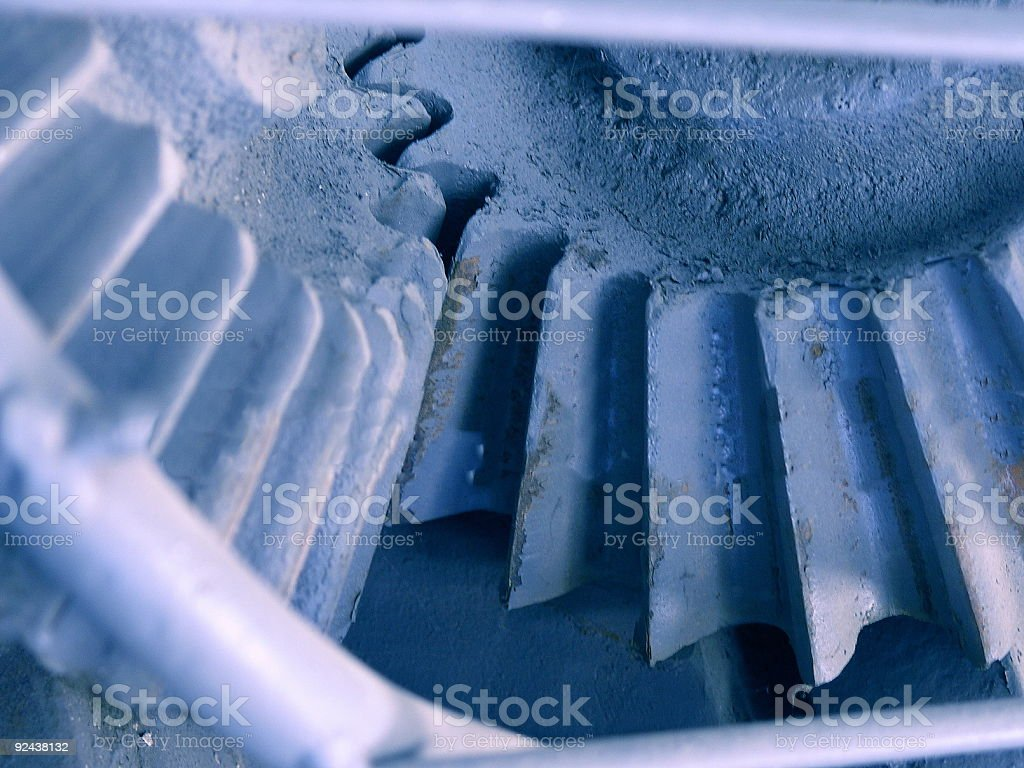Bevel Gears working together royalty-free stock photo