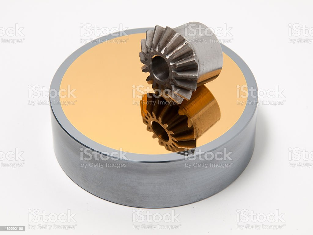 Bevel gear-wheel royalty-free stock photo