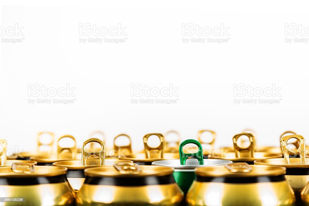 Beverage cans are already empty stock photo