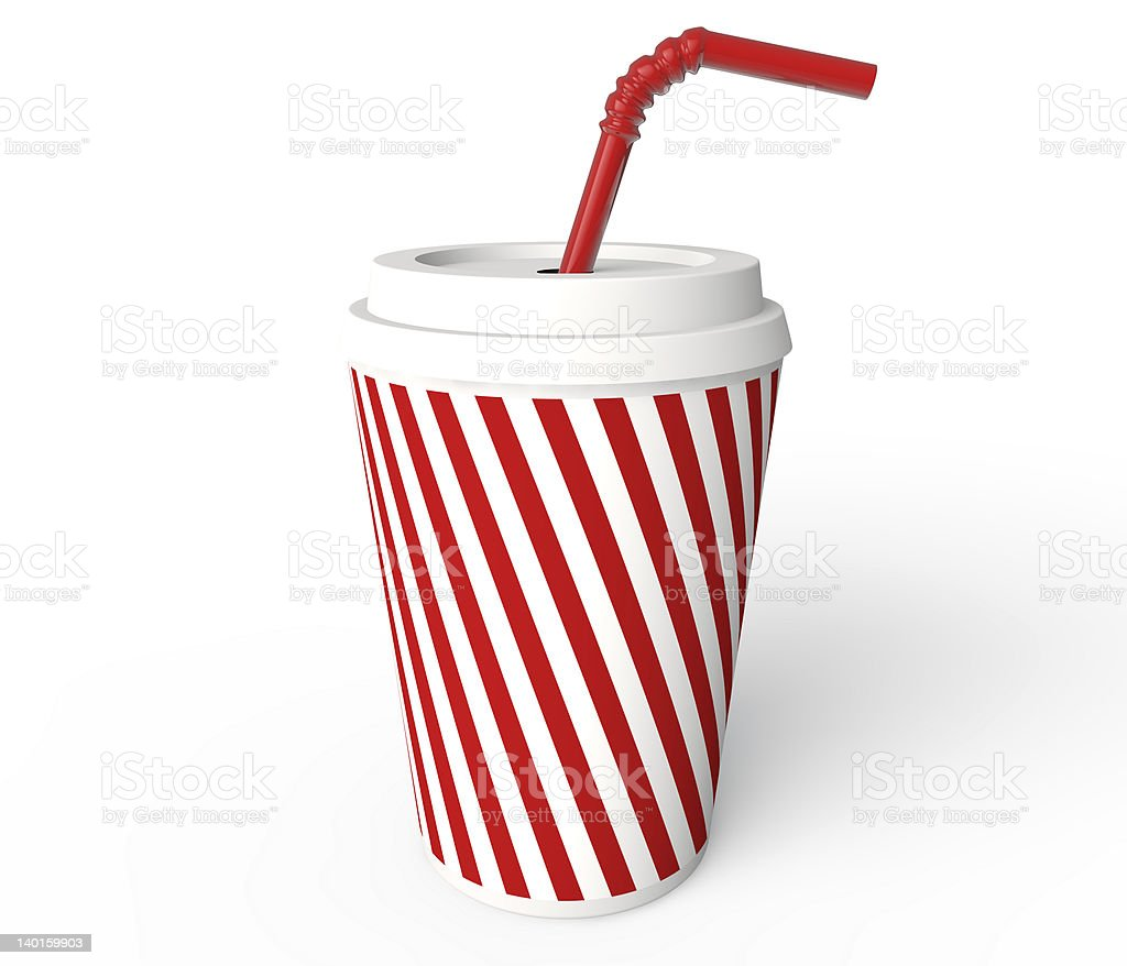 Beverage cup royalty-free stock photo