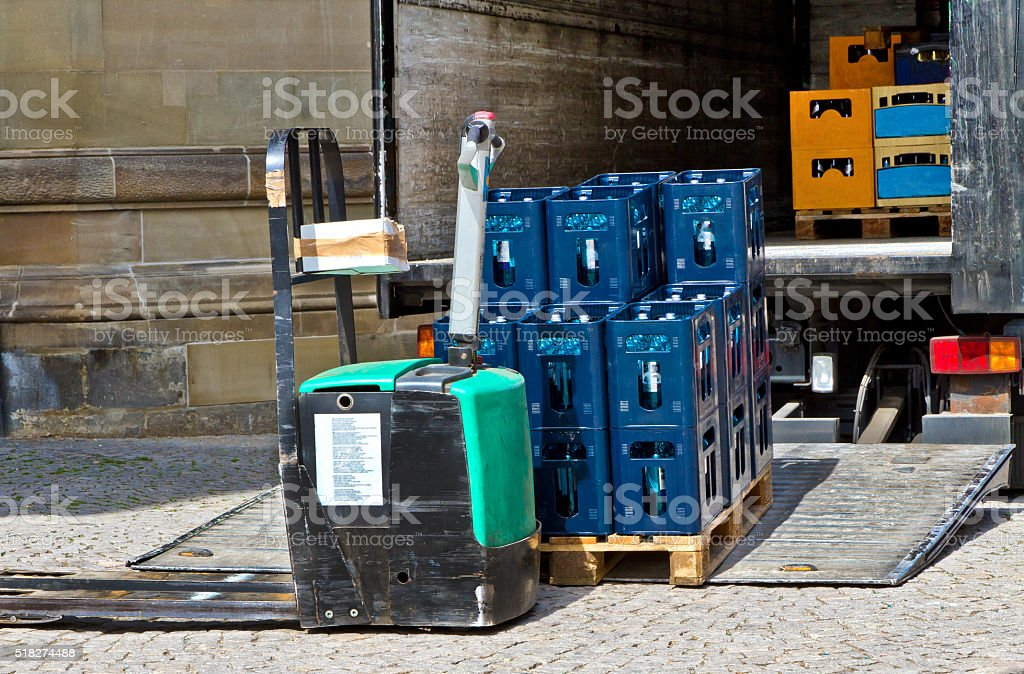 Beverage delivery stock photo