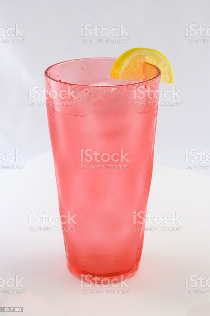 Beverage: Glass of Iced Water With Lemon royalty-free stock photo
