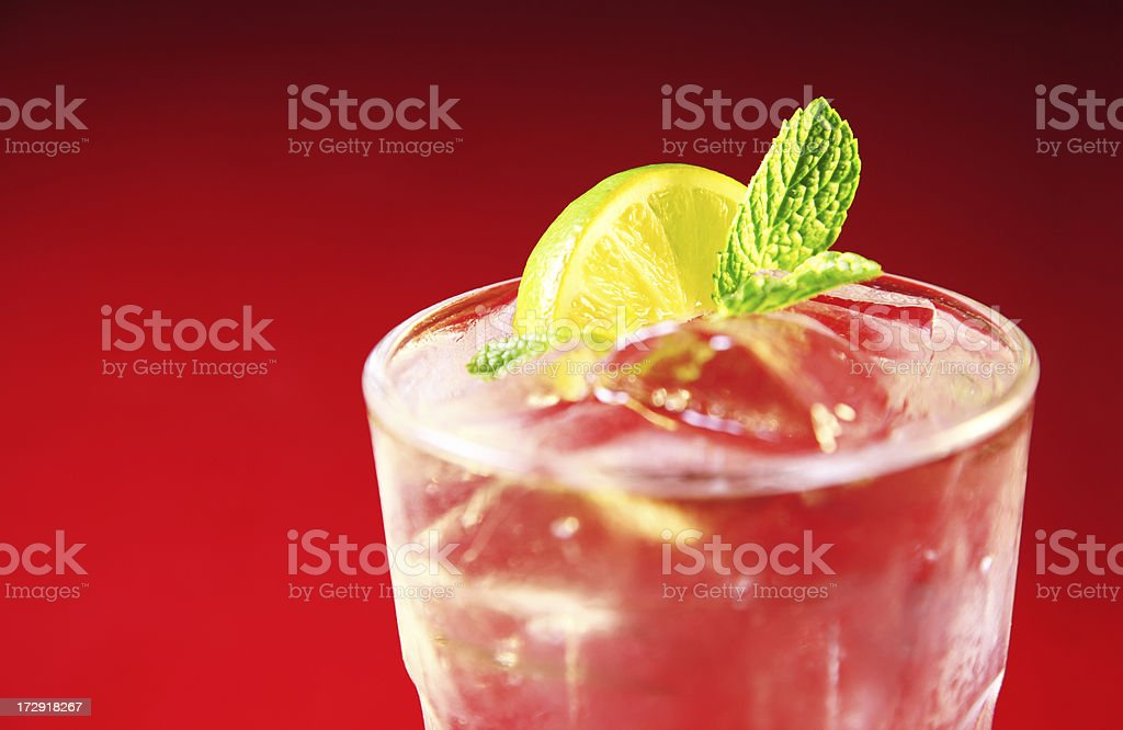 Beverage-Mojito on Red stock photo