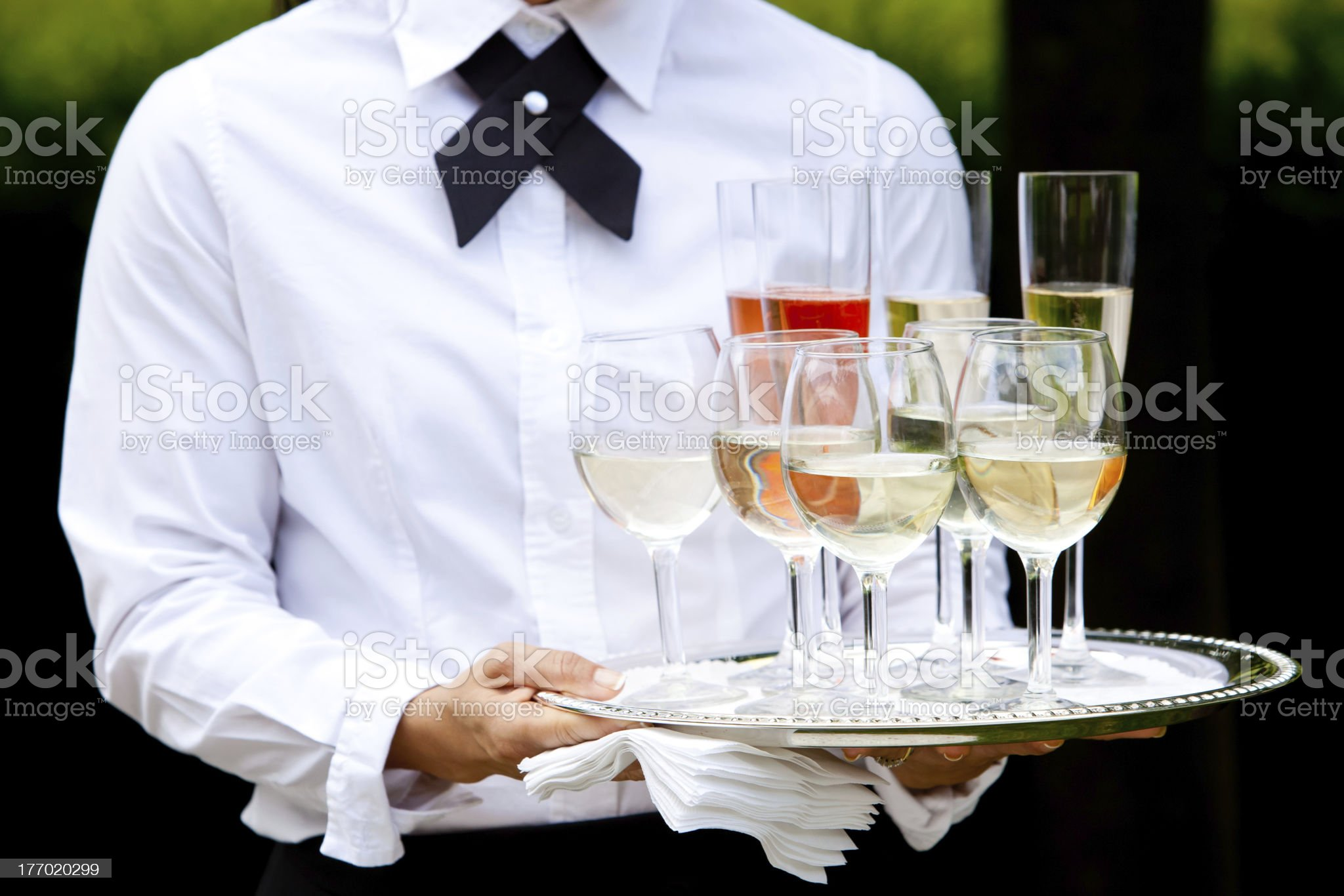 Beverages being served royalty-free stock photo