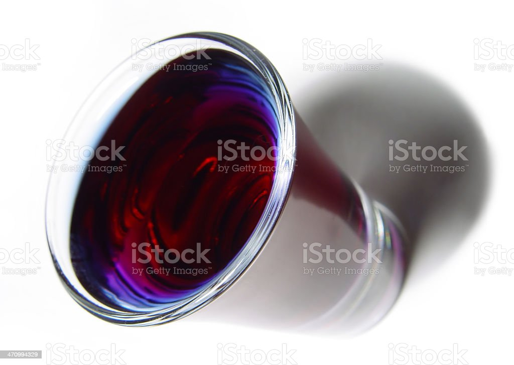 Beverages: black sambuca in shot glass. royalty-free stock photo