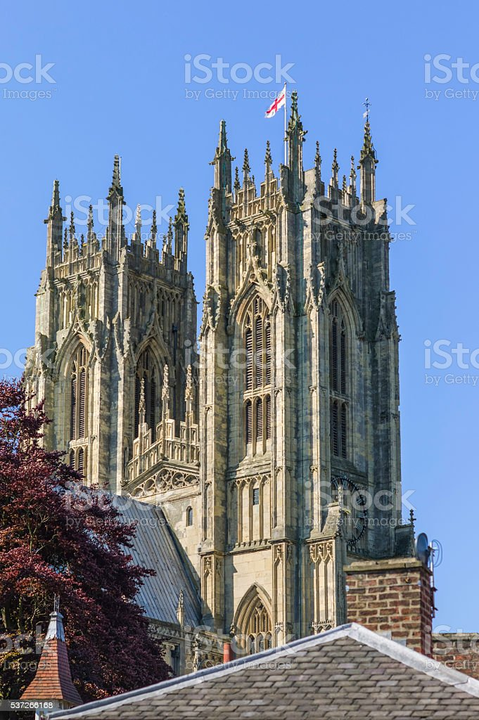 Beverley Minster on a sunny day, Yorkshire, UK. stock photo