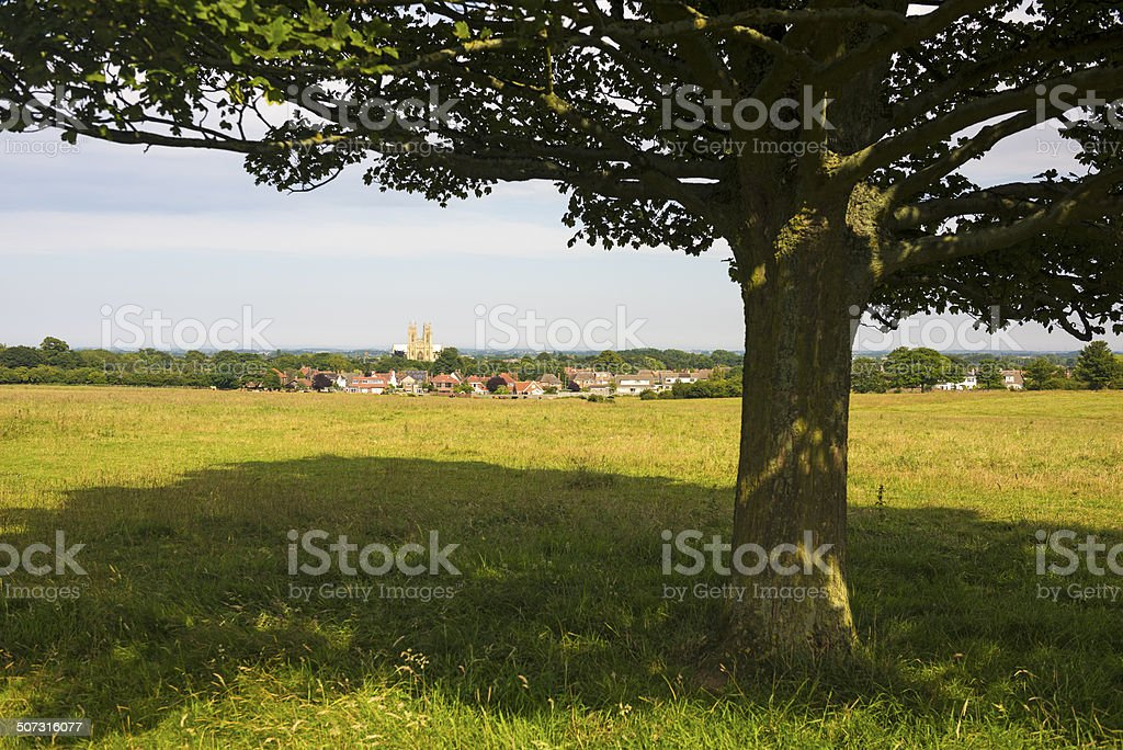 Beverley Westwood and Minster royalty-free stock photo
