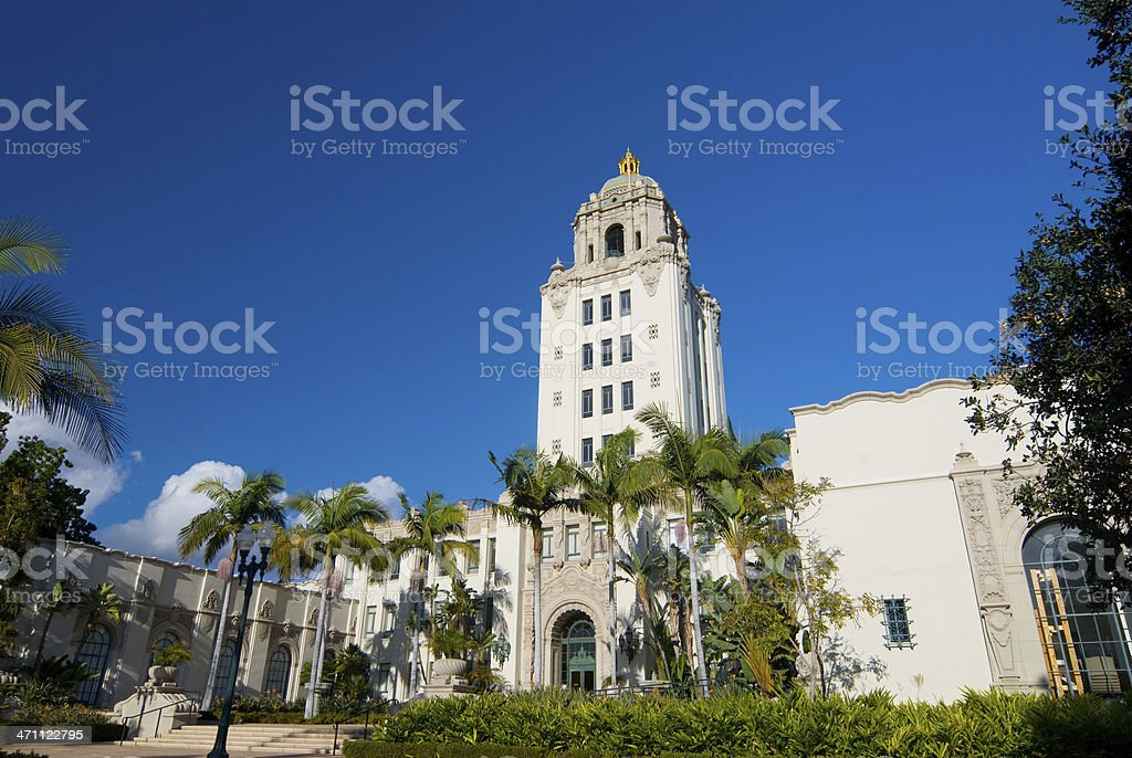 Beverly Hills City Hall stock photo