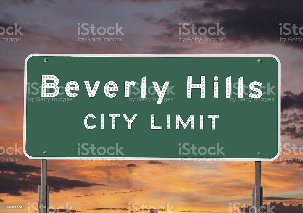 Beverly Hills City Limits Sign stock photo
