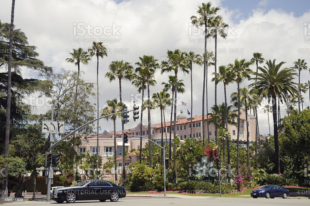 Beverly Hills Hotel stock photo
