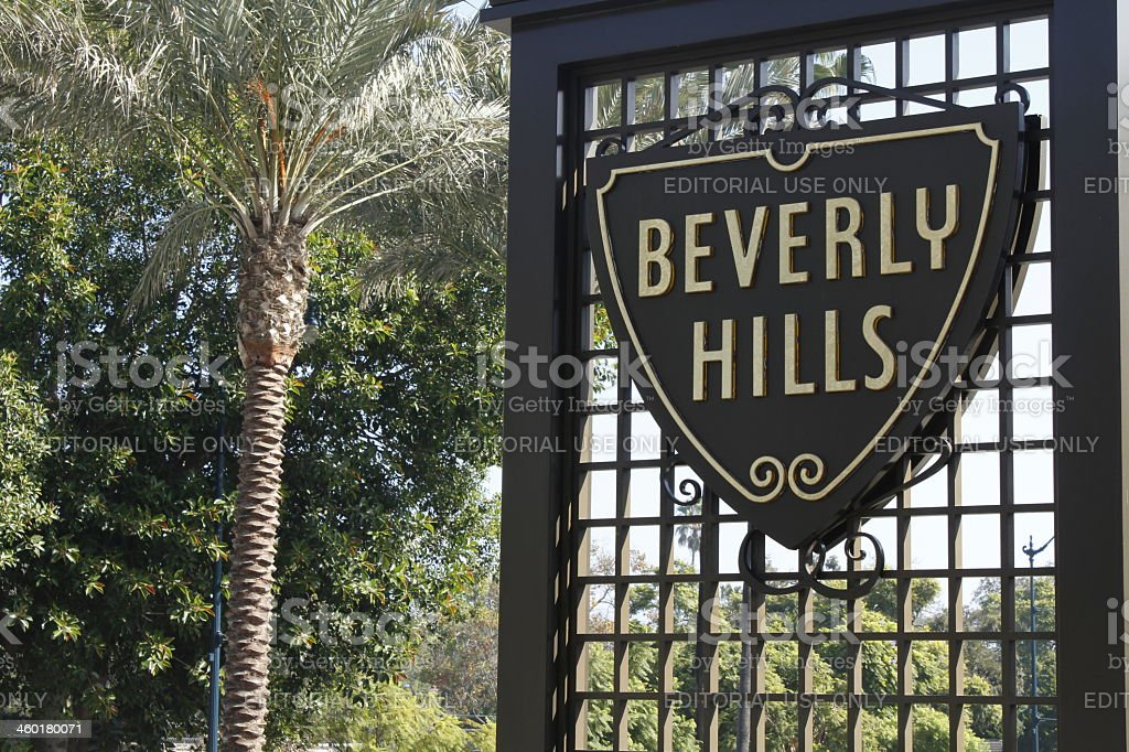 Beverly Hills Sign in California stock photo