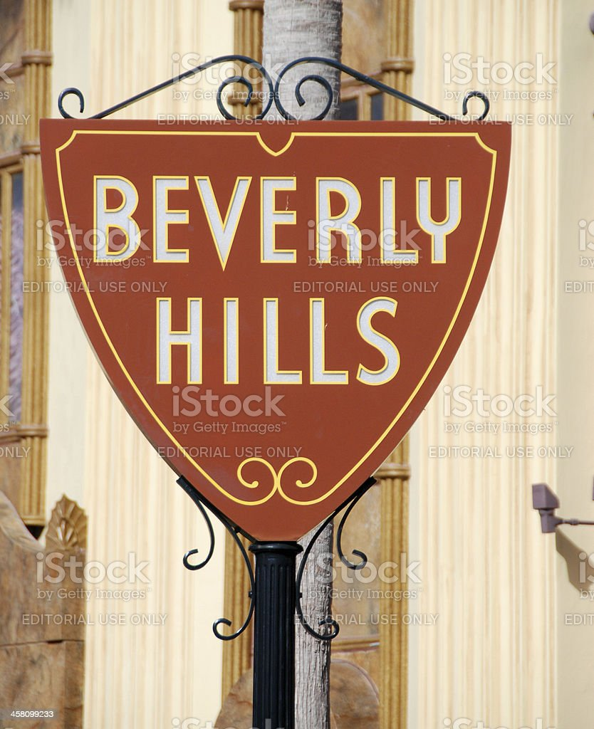 Beverly Hills street sign stock photo