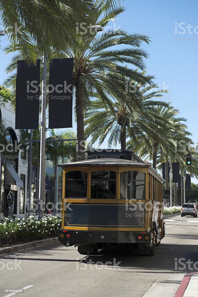 Beverly Hills Trolley royalty-free stock photo