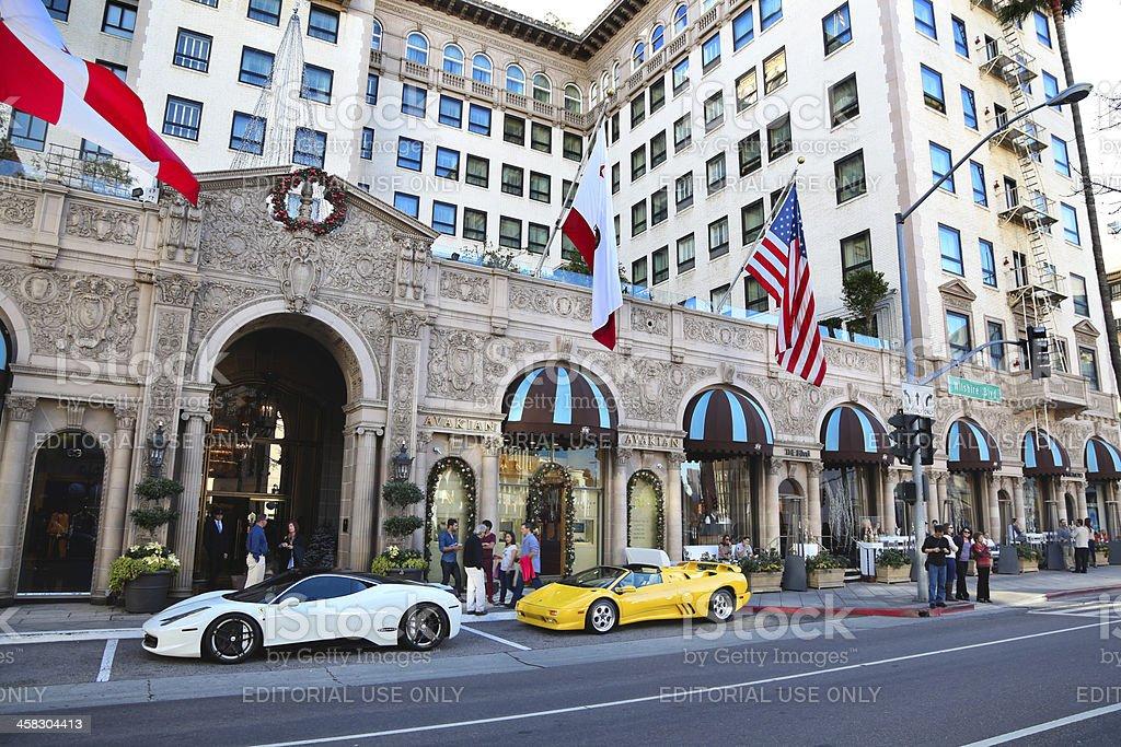 Beverly Wilshire Hotel, Los Angeles stock photo