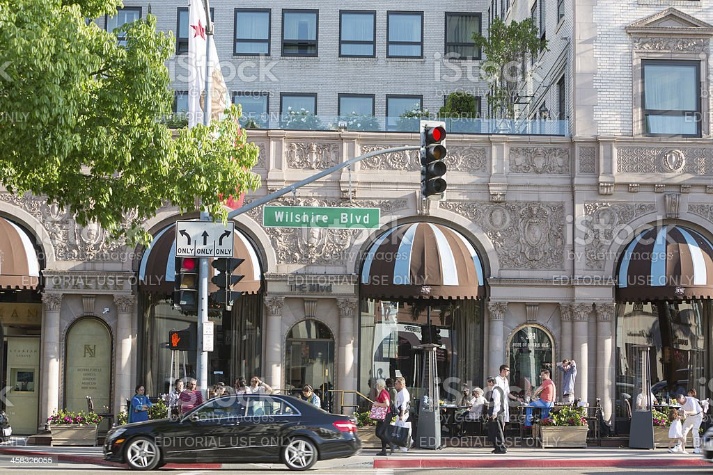 Beverly Wilshire Hotel royalty-free stock photo