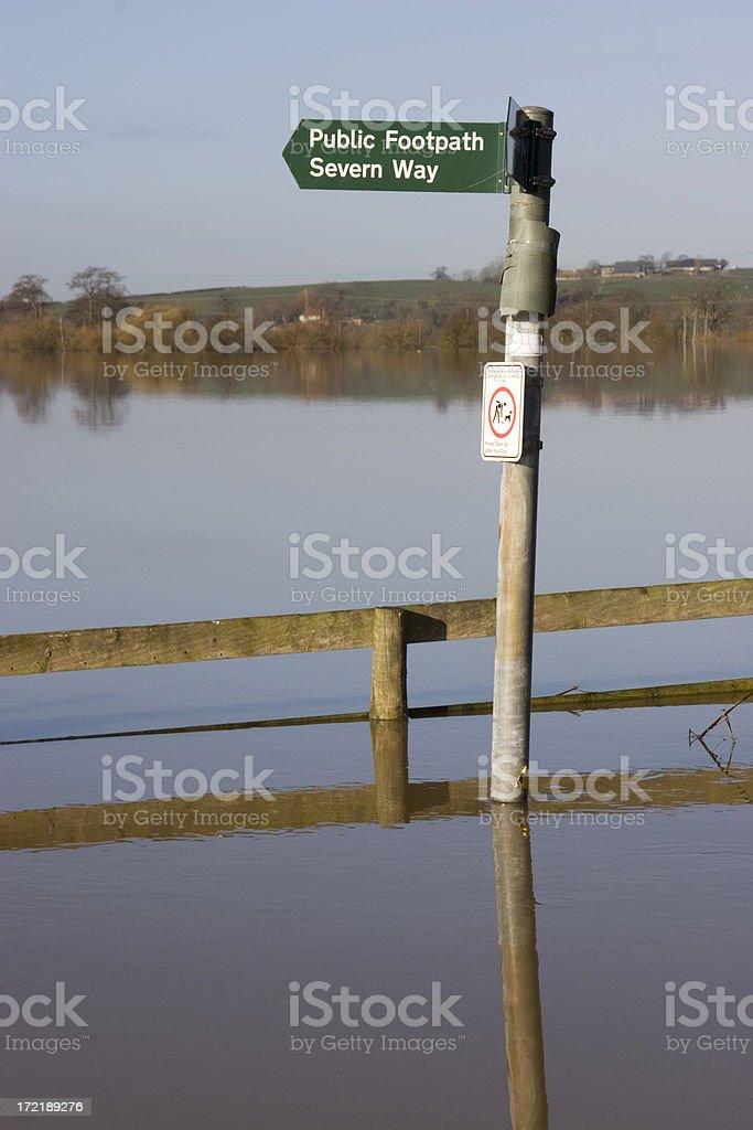 Beware flooding stock photo