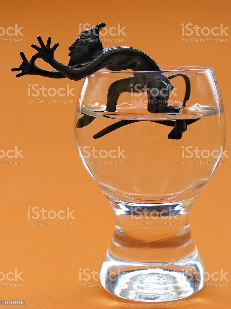 Beware of alcohol !!! royalty-free stock photo