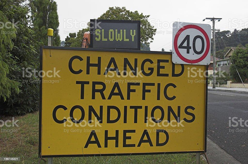 Beware of changes! stock photo