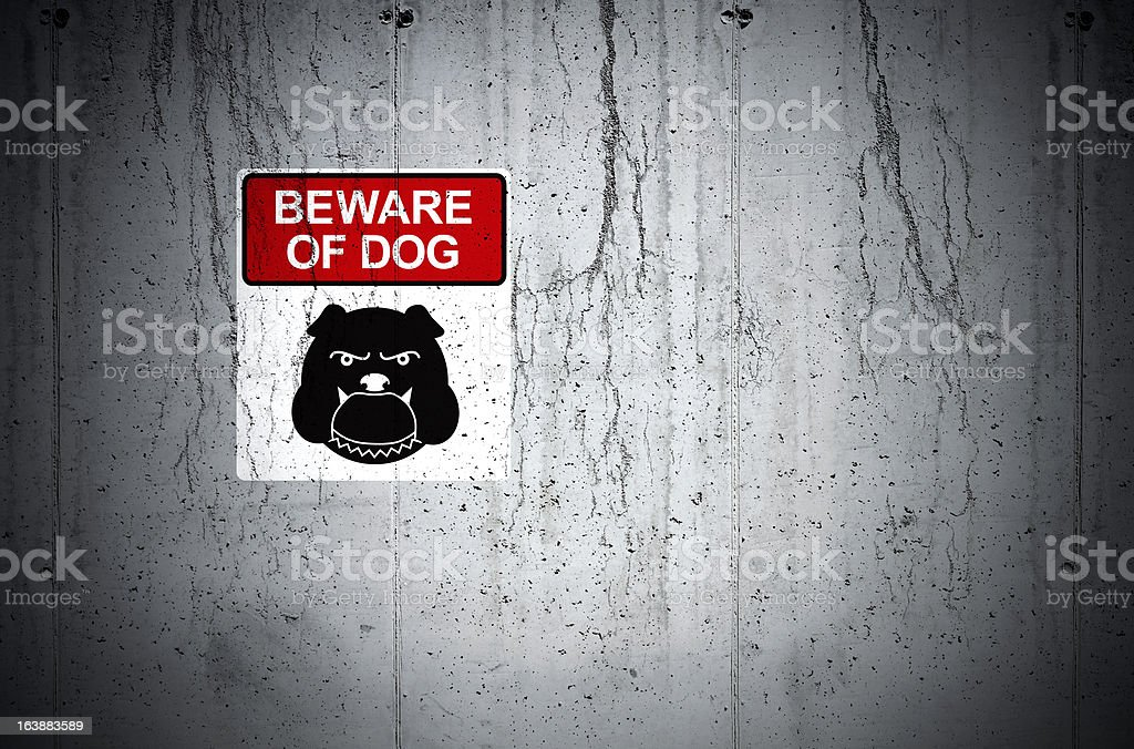 Beware of Dog Grunge royalty-free stock photo