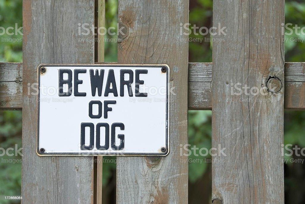 Beware Of Dog stock photo