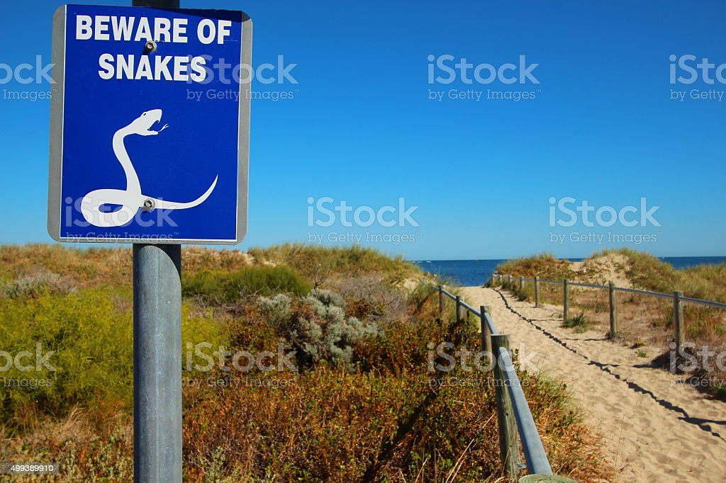 Beware of Snakes stock photo