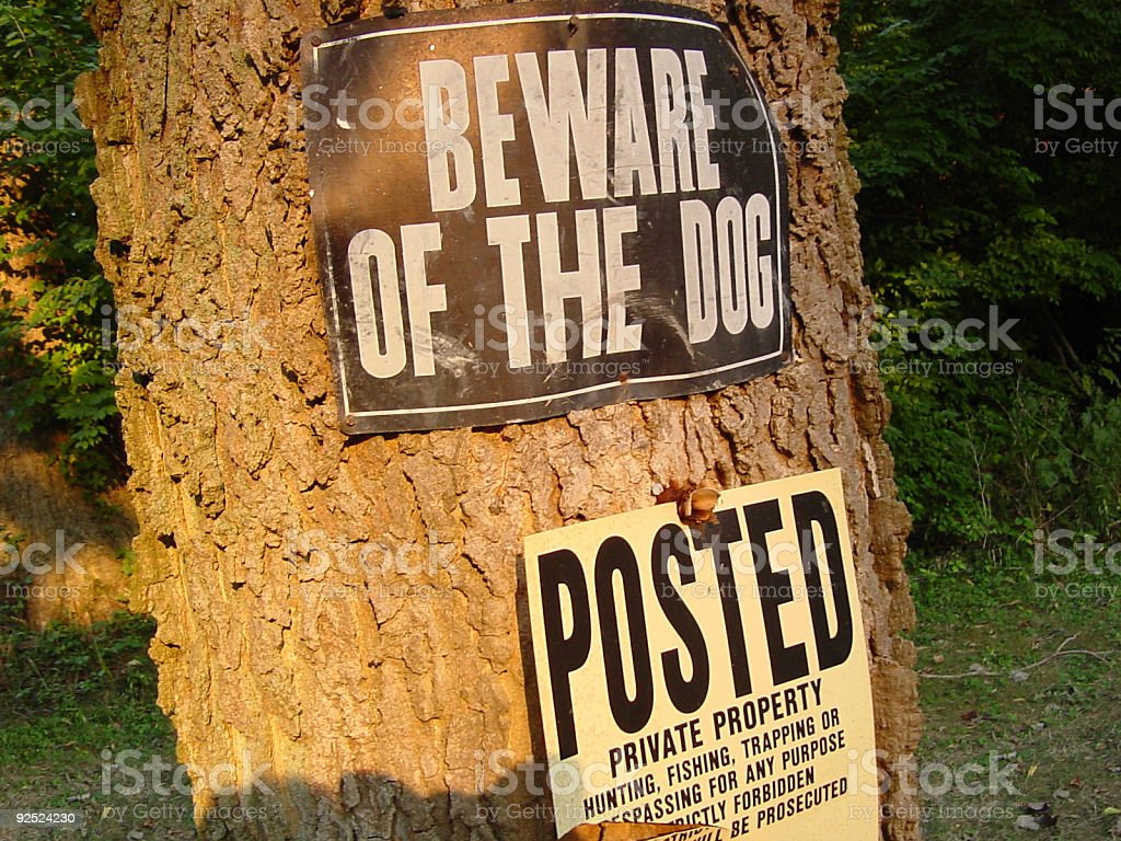 Beware of the Dog royalty-free stock photo