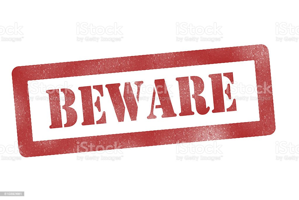 beware sign stock photo
