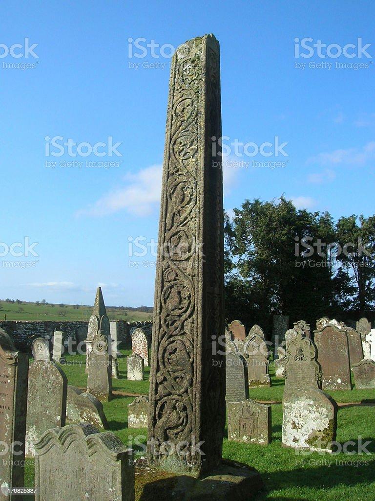 Bewcastle Saxon Cross royalty-free stock photo