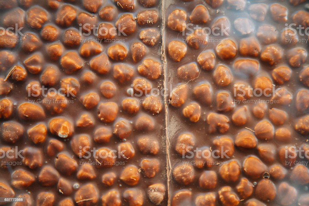 Beyoglu chocolate with nut stock photo
