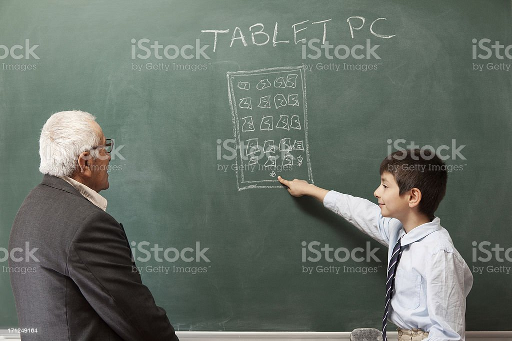 Beyond generation gap royalty-free stock photo