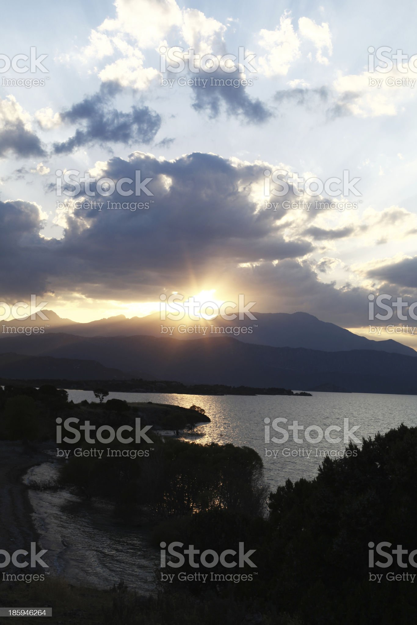 beysehir lake, sunset royalty-free stock photo
