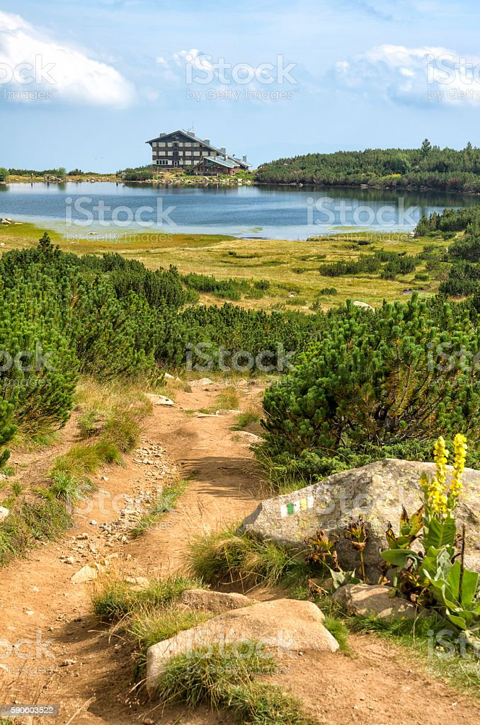 Bezbog hut in bulgarian mountain Pirin royalty-free stock photo