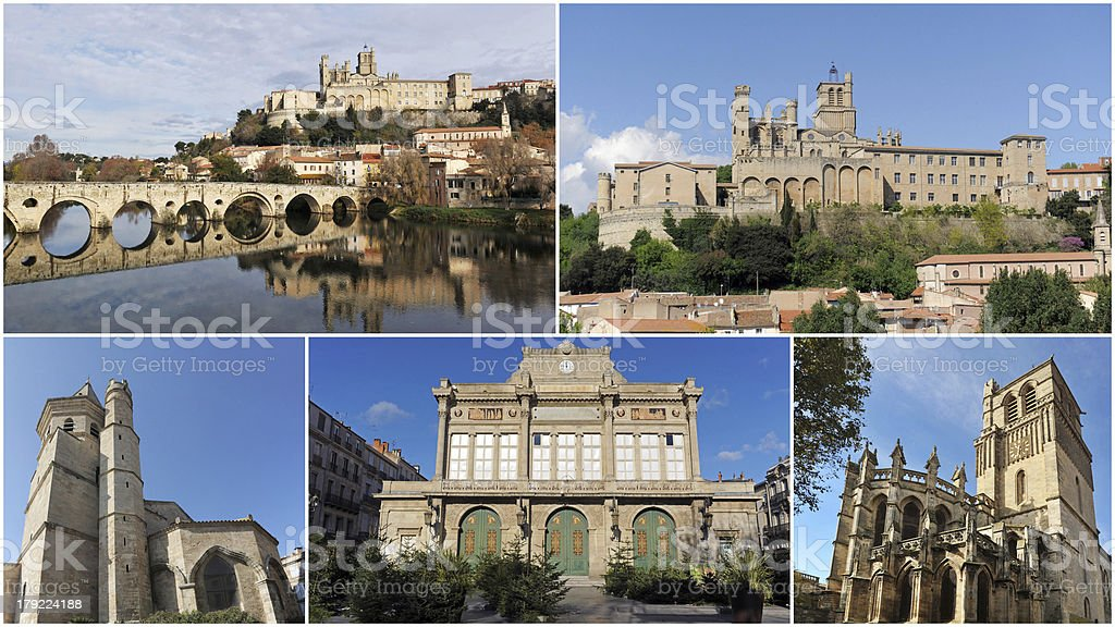 Beziers monuments royalty-free stock photo