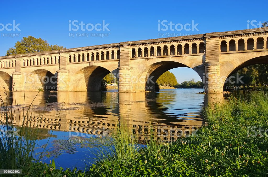 Beziers, The Orb Aqueduct stock photo