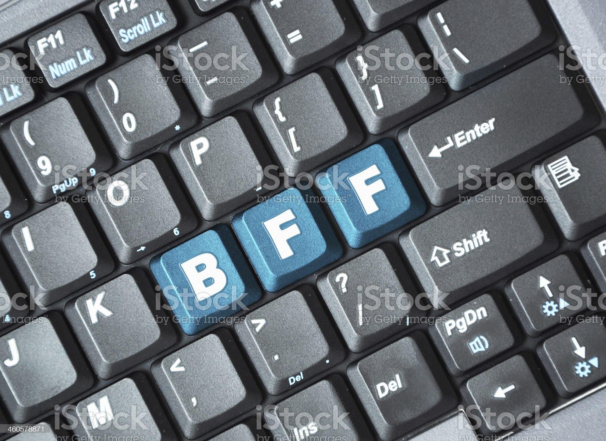 Bff key on keyboard royalty-free stock photo