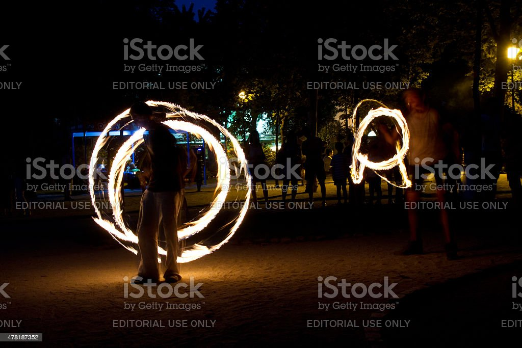 BFire jugglers royalty-free stock photo