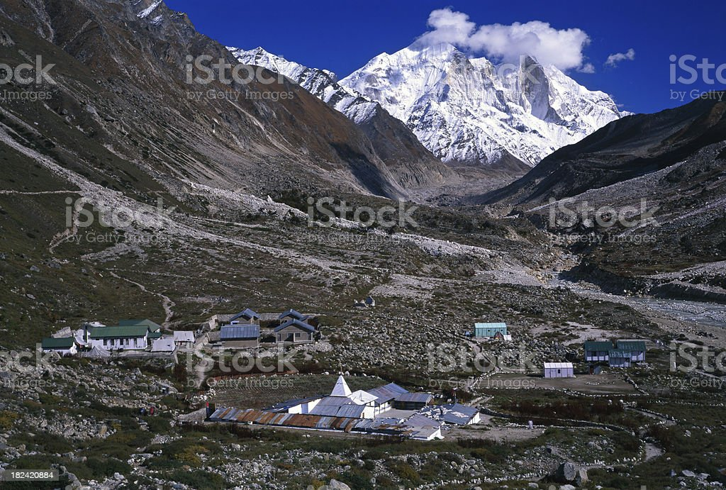 Bhagirathi Peak in the Himalayas Garhwalu. royalty-free stock photo