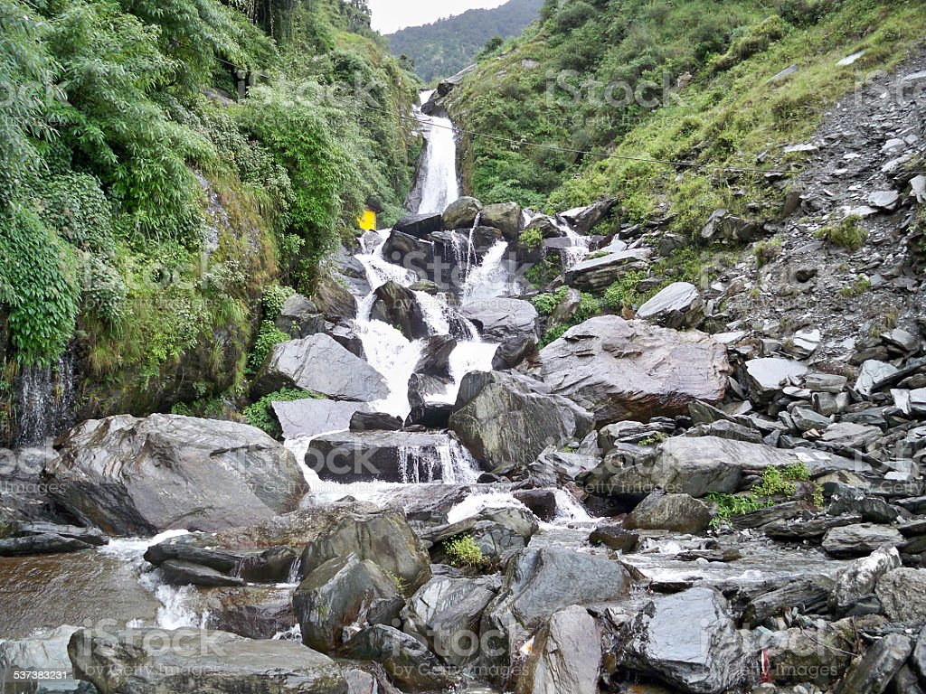 Bhagsunag Falls, Dharamshala stock photo