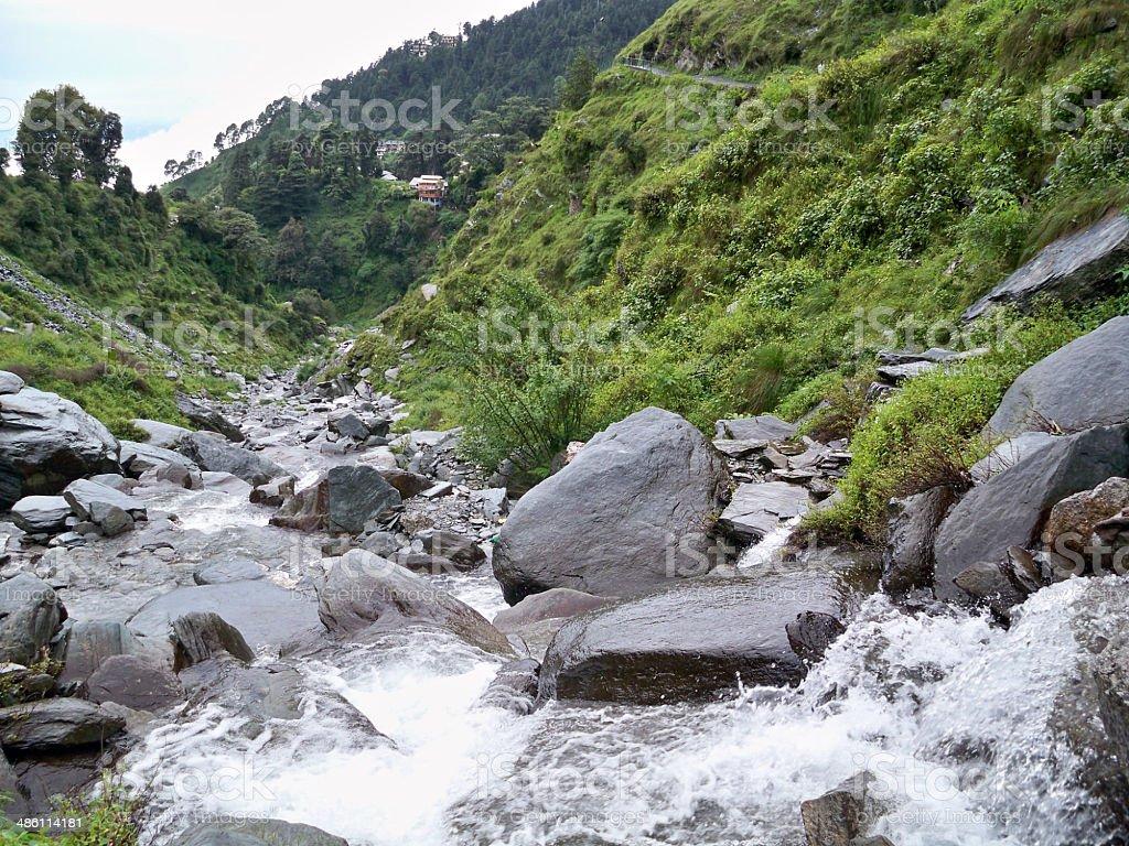 Bhagsunag Falls, Himachal Pradesh stock photo