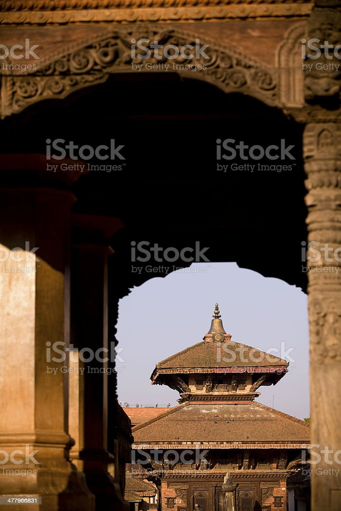 Bhaktapur Durbar Square royalty-free stock photo