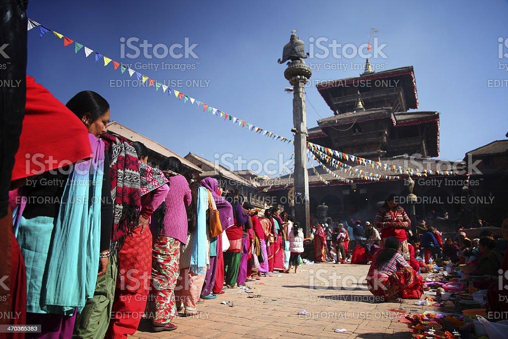 Bhaktapur Kathmandu stock photo