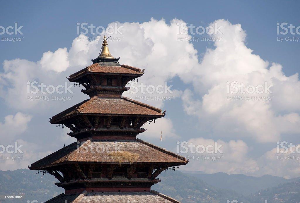 Bhaktapur, Nepal - Pagoda royalty-free stock photo