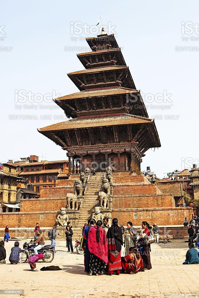 Bhaktapur Temple stock photo