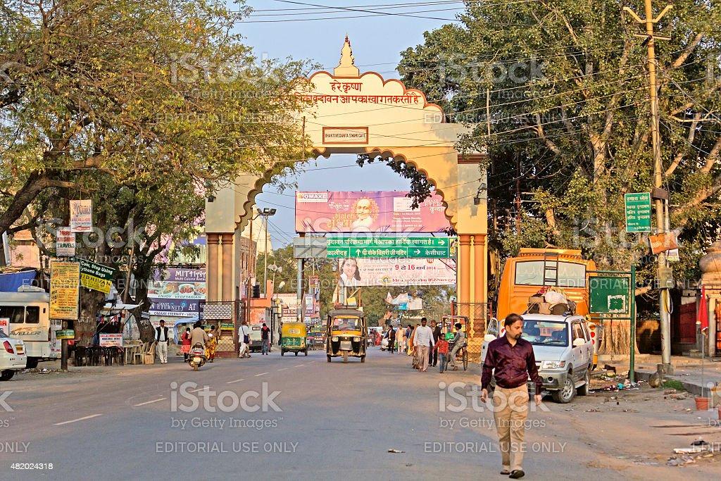 Bhaktivedanta Swami marg stock photo