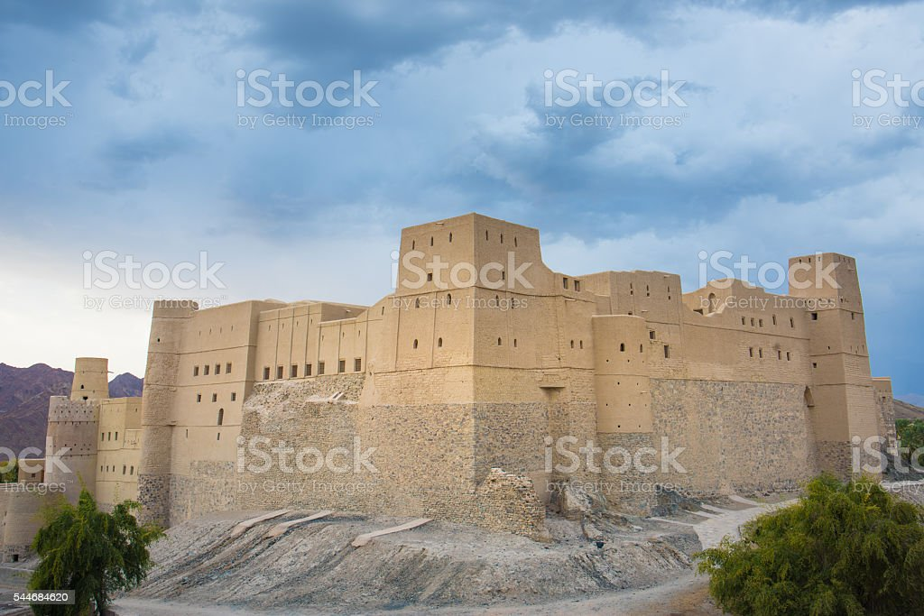Bhala Fort, Oman stock photo