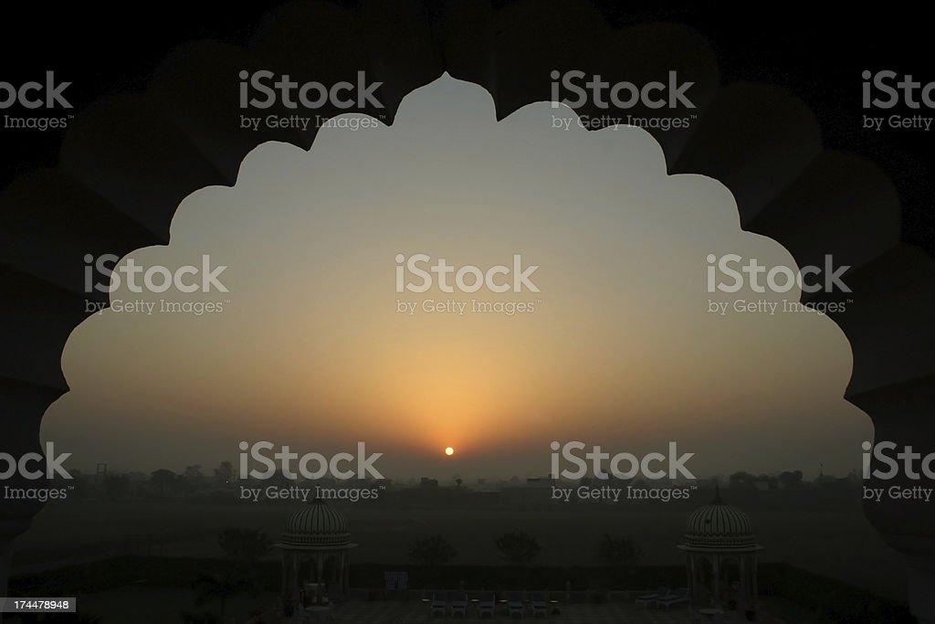 Bharatpur Sunrise India stock photo
