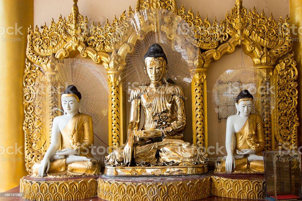 Bhudda Shwe dagon Pagoda stock photo