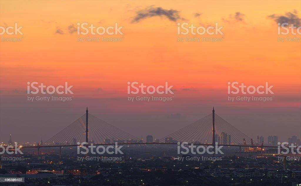 Bhumibol puente foto de stock libre de derechos