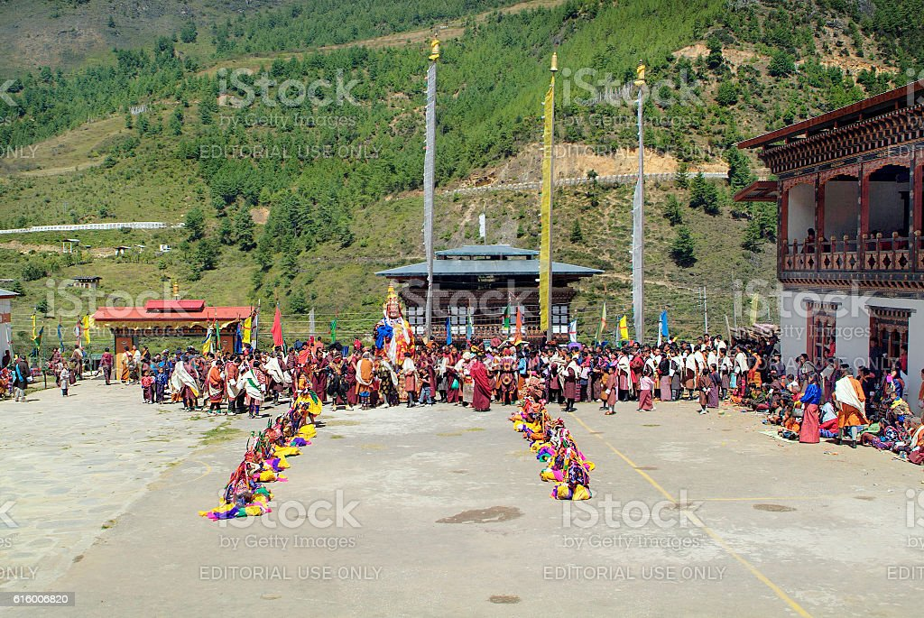 Bhutan, Haa, Tshechu, stock photo