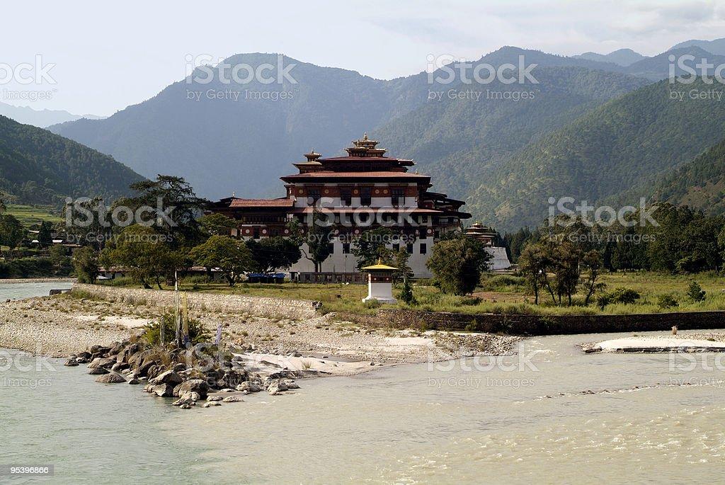 Bhutan, Punakha Dzong stock photo